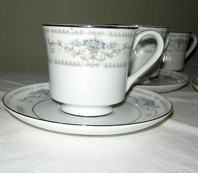 Fine China of Japan Wade 3 Diane Cups and Saucers