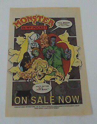 1991 comic book ad page ~ MONSTER IN MY POCKET