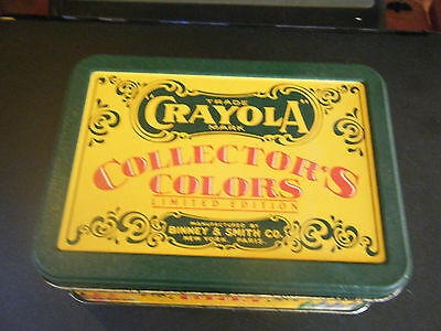 Limited Edition 1991 Collector Tin of Crayola Crayons w/Box of 8 Retired Colors