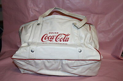 Coca Cola 1950's White Cooler Tote Bag holds 8-pack