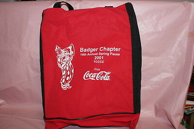 Coca Cola Badger Chapter 2001 Tote bag and Seat Pad