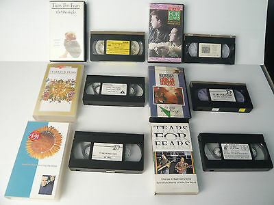 tears for fears 6 video cassette vhs,
