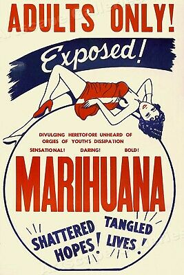 """""""Marihuana"""" 1936 Reefer Vintage Style Movie Poster - 16x24"""