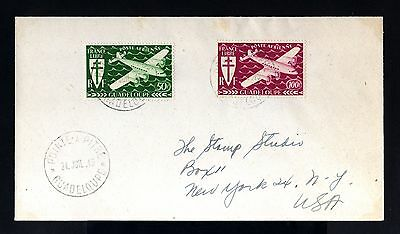 8375-GUADELOUPE-OLD COVER POINTE PITRE to NEW YORK(usa)1945.WWII.French colonies