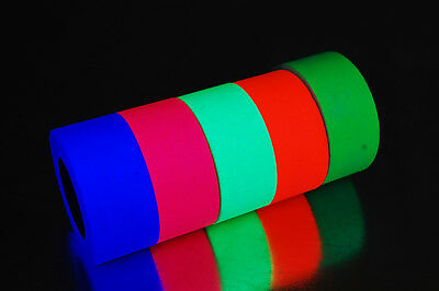 1 Inch UV Blacklight Reactive Fluorescent Gaffer Tape 1x  5.9 YDS