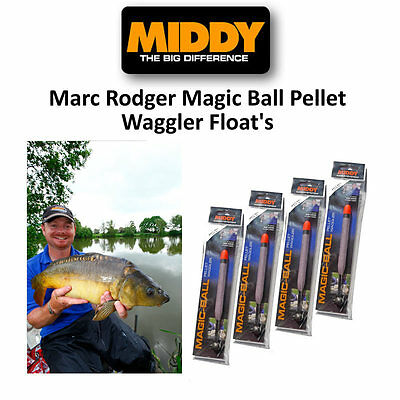 Middy Marc Rodger Magic Ball Pellet Waggler Floats Coarse Match Fishing