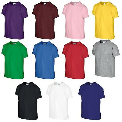 Boys Girls Plain Unisex Tshirt School Uniform Top T Shirt All Sizes Colours NEW