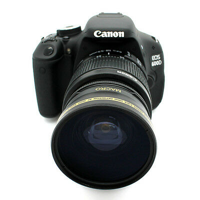 HD Wide Angle 58MM Macro Lens for Canon EOS Digital Rebel 700D 600D 550D 500D
