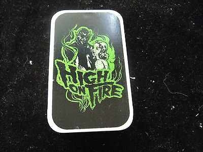 "High on Fire Metal Stash Box Tin 1-1/2"" X 2-3/4"""