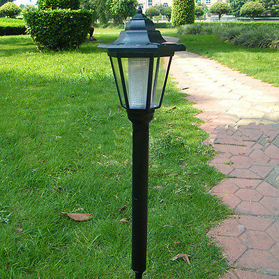 Outdoor Solar Powered LED Lamp Post Latern Lawn Walkway Path Garden Yard Light