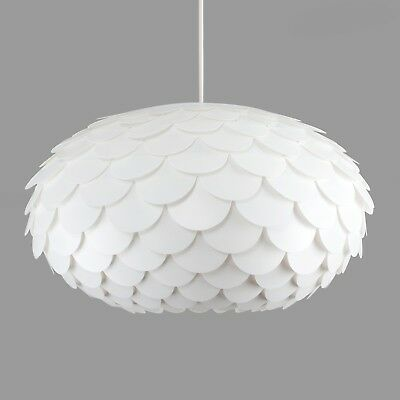 Modern Funky Retro Style White Artichoke Ceiling Pendant Light Lamp Shade Lights
