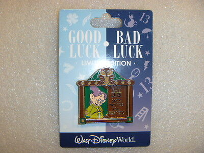 WDW - Good Luck, Bad Luck - Dopey Pin