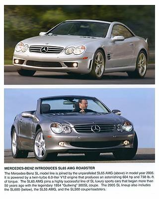 2005 Mercedes Benz SL65 AMG Roadster Automobile Photo Poster zch6571