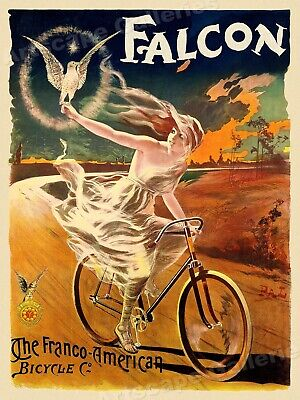 Falcon - Franco American Bicycle Co 1890s Vintage Bicycle Poster - 24x32