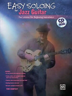 Easy Soloing For Jazz Guitar Lessons For Beginning Improvisers Tab Book Cd NEW!