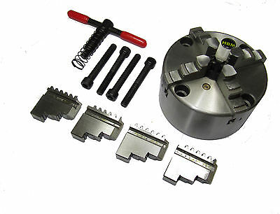 Rdgtools 100Mm 4 Jaw Self Centering Lathe Chuck Int / External Jaws Front Mount