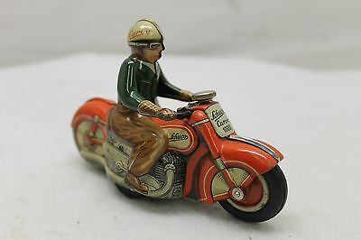 Original Vintage Schuco Curvo Motorcycle #1000 Red $12 Shipping Wind Up