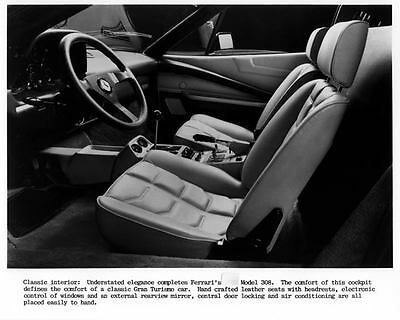 1985 Ferrari 308 Mondial Testarossa Interior Factory Photo ca1932