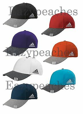 ADIDAS GOLF Hat Mens Adjustable Size Collegiate Heather Baseball Cap Structured