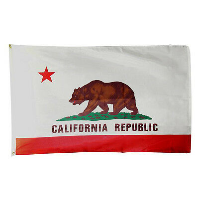 3' x 5' Polyester California STATE FLAG Bear CA USA Grommets Banner America New