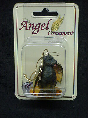 STAFFORDSHIRE BULL TERRIER dog ANGEL ornament Figurine Statue Christmas puppy K9