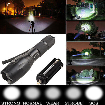 2500LM UltraFire 5 Modes Adjustable Focus CREE XML T6 LED 18650 Flashlight Torch