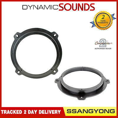 CT25SY01 Speaker Adaptor Fitting Rings Pod For SsangYong Rexton, Actyon, Kyron