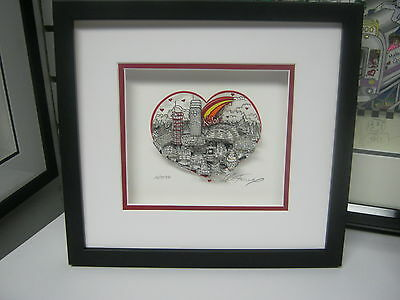 "Charles Fazzino"" Kobe Love "" 3-D Signed & Number Framed - Deluxe Edition"