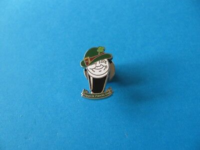 Happy St Patricks Day Guinness Pint Pin Badge. VGC. Unused. Enamel.