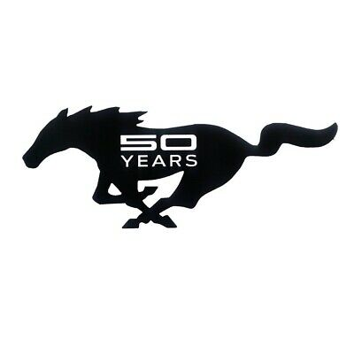 Mustang 50 Years Steel Wall Art - 50th Anniversary Metal Sign - Over 2 Feet Long