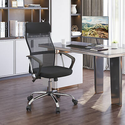 HOMCOM High Back Ergonomic Mesh Office Chair Swivel Computer PC Desk Chair Seat