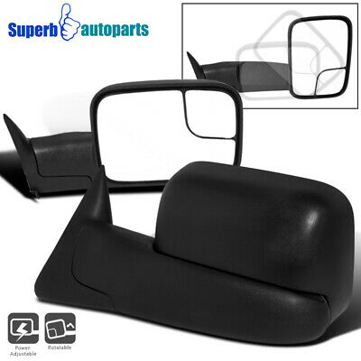1994-1997 Dodge Ram 1500 2500 3500 Truck Power Towing Fold Out Mirrors Kit