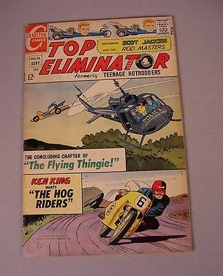 1967 Top Eliminator Comics Books #25 Hot Rod Car Racing Bike Comics  Rat Fink