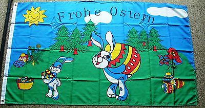 Frohe Ostern Oster Fahne Flagge 60 x 90 cm Osterhase Osterfahne Osterflagge Nr.3