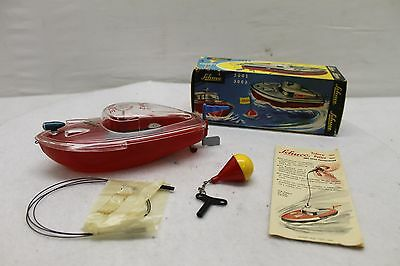 Original Vintage Schuco Wind Up Submarino Boat #3002 $12 Shipping Police MIB