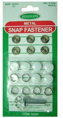 White Metal Snap Fasteners