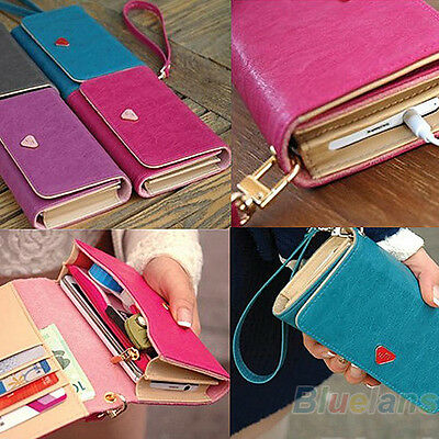 Girl Envelope Zipper Synthetic Leather Card Holder Wallet Purse Clutch Phone Bag
