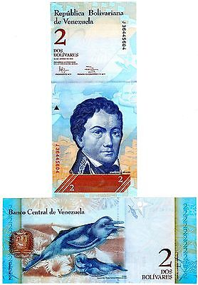 Venezuela Two Bolivares Uncirculated Note, Year 2012