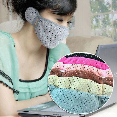 Winter Cycling Warm Cotton Anti-Dust Mouth Face Mask Earmuff Ear Warmers Cover