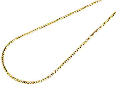10K Yellow Gold Mens / Ladies 2 MM Round Box Chain Necklace 22 - 36 Inches