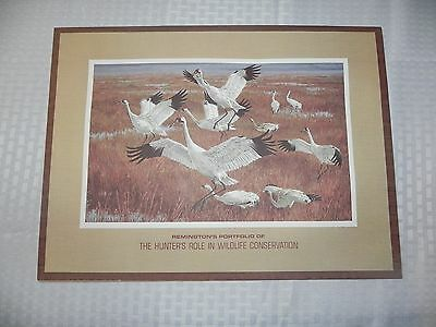 REMINGTON ARMS THE HUNTER'S ROLE IN WILDLIFE CONSERVATION LITHO PRINT SET OF 4