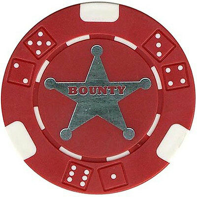 100 TEXAS HOLDEM BOUNTY TOURNAMENT POKER CASINO CHIPS Free Shipping*