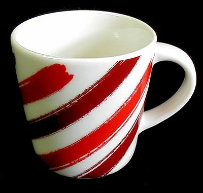NEW Espresso Cup STARBUCKS Demi Mug Diagonal Candy Cane Stripes 2014 3 oz 2014