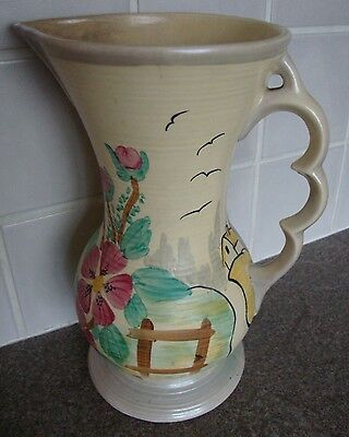 ~*Must See, Lovely Wade Heath (Wade) Art Deco Hand Painted Jug*~