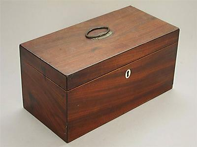 BEAUTIFUL LARGE GEORGIAN ANTIQUE MAHOGANY TEA CADDY 1800 box casket