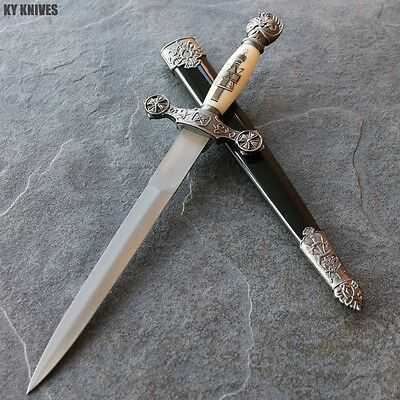 "14"" Medieval Dagger Ornate with Metal Sheath NEW H-5901 zix"