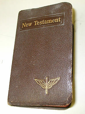 NAMED WWII ARMY AIR CORPS BIBLE STAMPED TO A CHAPLAIN W.MONROE LOUISIANA