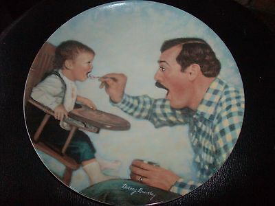 DAD & BABY PLATE - OPEN WIDE - A FATHER'S LOVE - BETSEY BRADLEY - KNOWLES