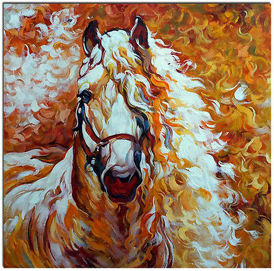 Horse Spirit - Artist Hand Painted Signed Oil Painting On Canvas FRAME AVAILABLE