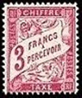 """FRANCE STAMP TIMBRE TAXE N° 42 A """" TYPE DUVAL 3F LILAS-ROSE """" NEUF x TB"""